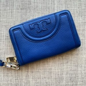 Tory Burch Royal Blue Leather Wallet